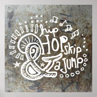 Salto 2B del salto de Hip Hop Póster