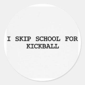 salto al pegatina del kickball de la escuela 4