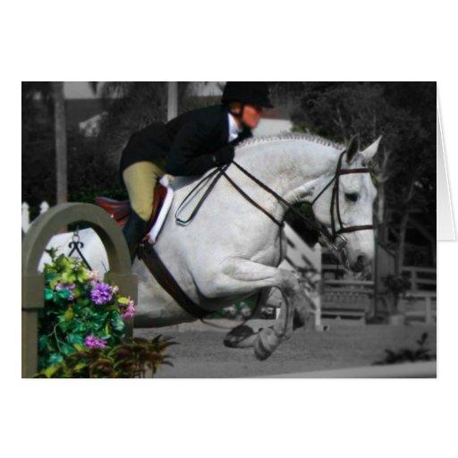 Salto árabe del caballo felicitacion