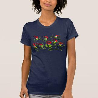 ¡Salto, baile y celebrando de las ranas del navida T Shirts