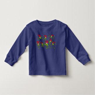 ¡Salto, baile y celebrando de las ranas del T Shirt