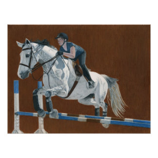 ¡Salto! Cazador/caballo del puente y poster del ji