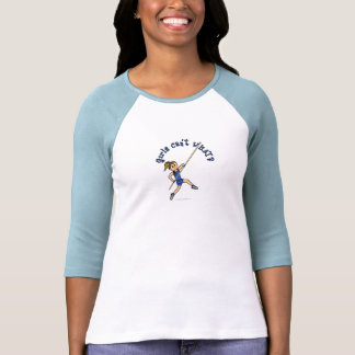 Salto con pértiga - azul (luz) camisetas