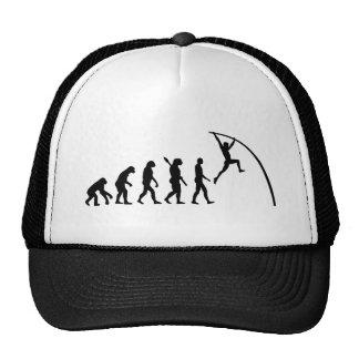 Salto con pértiga de la evolución gorra