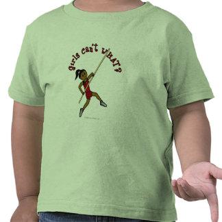Salto con pértiga - rojo (oscuro) camisetas