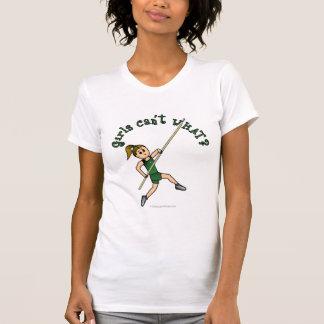 Salto con pértiga - verde (luz) camisetas