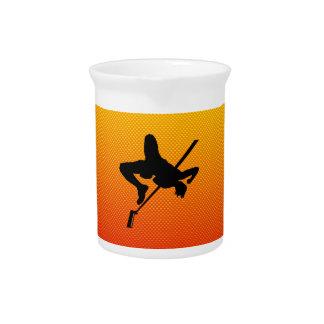Salto de altura amarillo-naranja jarra de beber