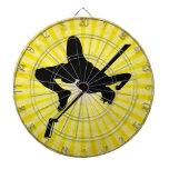 Salto de altura; amarillo tablero de dardos