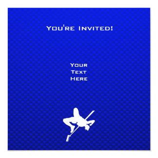 """Salto de altura azul invitación 5.25"""" x 5.25"""""""