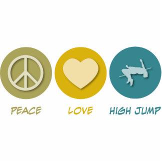 Salto de altura del amor de la paz escultura fotográfica