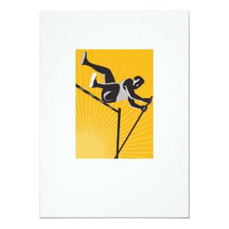 """Salto de altura del salto con pértiga del atleta invitación 4.5"""" x 6.25"""""""