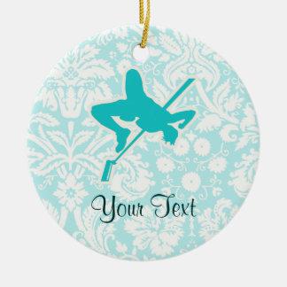 Salto de altura del trullo adorno navideño redondo de cerámica