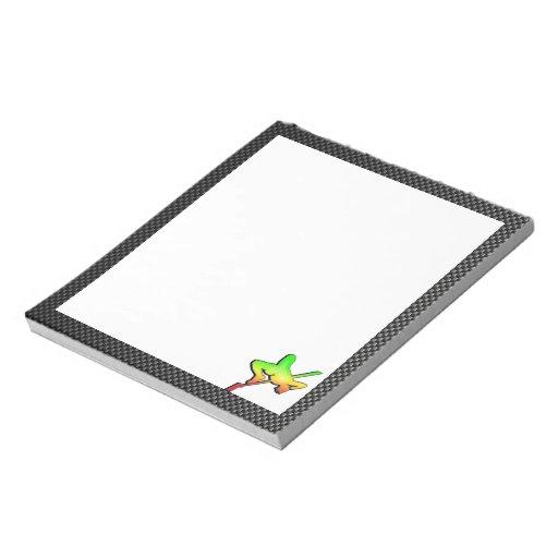 Salto de altura liso bloc de papel