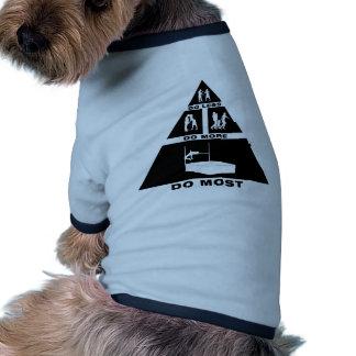 Salto de altura camiseta de mascota