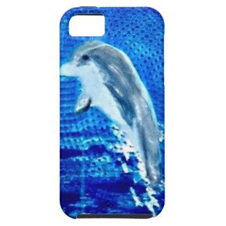 Salto de arte del delfín iPhone 5 Case-Mate fundas