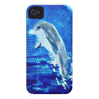 Salto de arte del delfín funda para iPhone 4