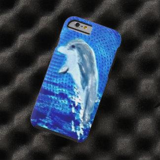Salto de arte del delfín funda resistente iPhone 6