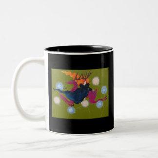 Salto de ciervos tazas de café