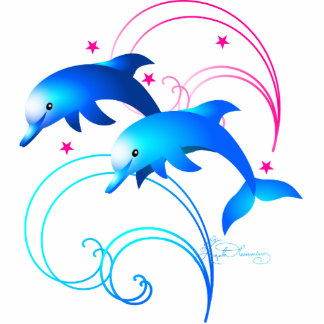 Salto de delfínes esculturas fotográficas