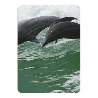 Salto de delfínes invitación 12,7 x 17,8 cm