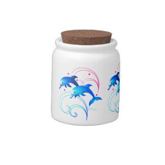 Salto de delfínes jarras para caramelos