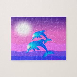 Salto de delfínes puzzle con fotos