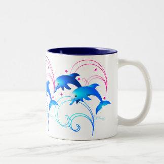Salto de delfínes tazas