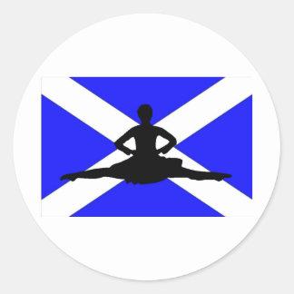 Salto de Escocia Pegatinas Redondas