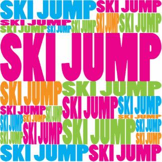 Salto de esquí colorido esculturas fotográficas