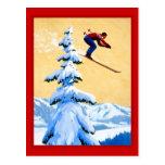 Salto de esquí de Suiza Tarjeta Postal