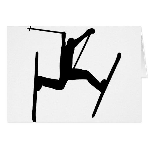 salto de esquí extremo felicitación