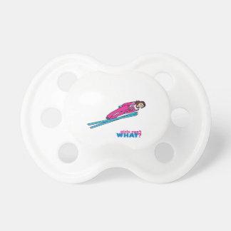 Salto de esquí para mujer chupetes de bebe