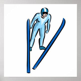 Salto de esquí póster