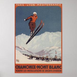 Salto de esquí - poster olímpico del promo de PLM