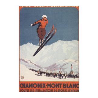 Salto de esquí - poster olímpico del promo de PLM Impresión De Lienzo