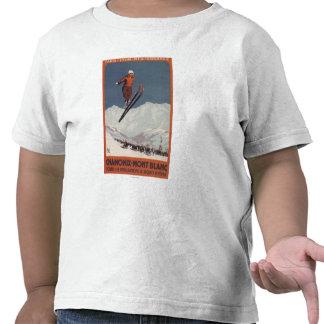 Salto de esquí - poster olímpico del promo de PLM Camisetas