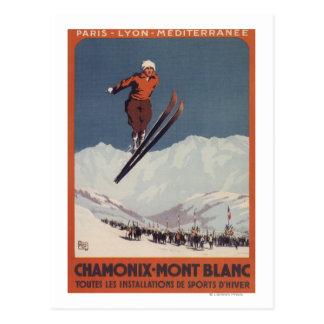 Salto de esquí - poster olímpico del promo de PLM Postal