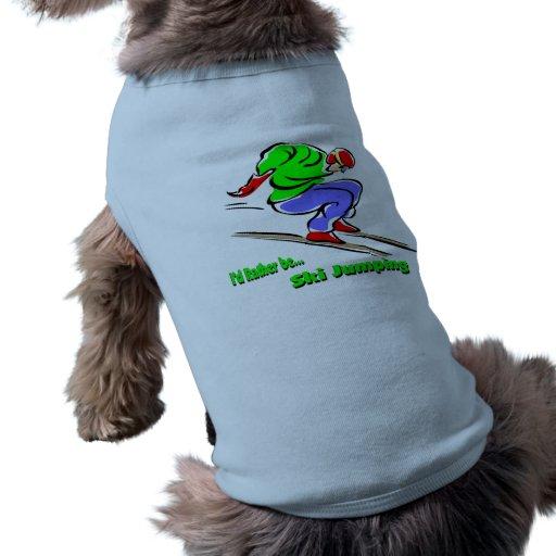 Salto de esquí camisas de perritos
