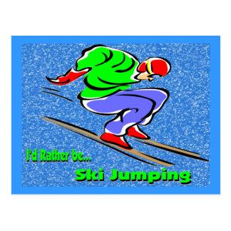 Salto de esquí postal