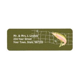 Salto de etiquetas de los pescados etiquetas de remite