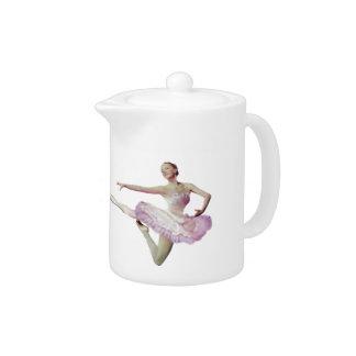 Salto de la bailarina en azul