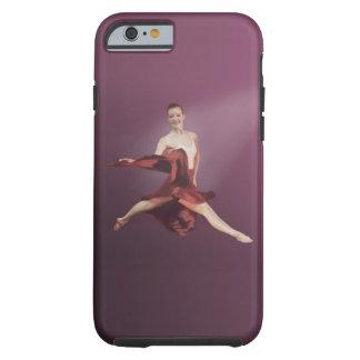 Salto de la bailarina en rojo funda de iPhone 6 tough