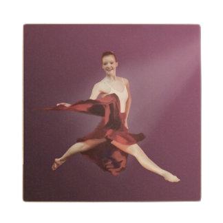 Salto de la bailarina en rojo posavasos de arce