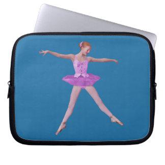 Salto de la bailarina en rosa manga computadora