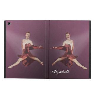 Salto de la bailarina en texto rojo, adaptable