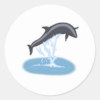 Salto de la ballena experimental etiquetas redondas