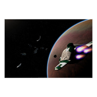 Salto de la estrella (colosal rinda) póster