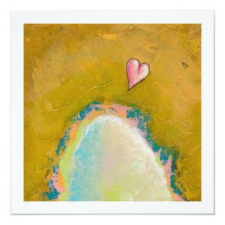 """Salto de la fe poca pintura esperanzada del arte invitación 5.25"""" x 5.25"""""""