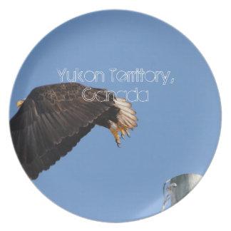 Salto de la fe; Recuerdo del territorio del Yukón Plato De Comida