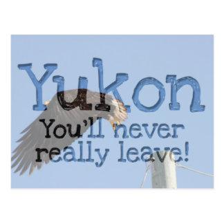 Salto de la fe; Recuerdo del territorio del Yukón Postales